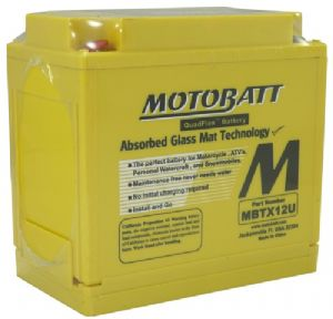 MOTOBATT High Torque Battery: YTX14-BS. 12V/14AH Battery Upgrade. 200 Cca!